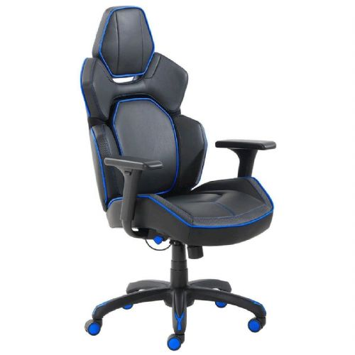 True Innovations DPS 3D Insight Lumbar Gaming Chair in Blue Trim